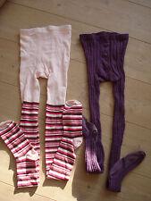NEU*Karstadt*H&M*2 Strumpfhosen Set/rosa lila/146-152+152-158/Baumwolle&Skretch
