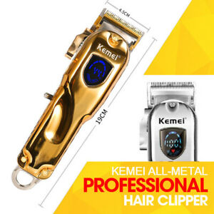 Kemei 1986 All-metal Gold Professional Cordless Hair Clipper Trimmer PRO FX