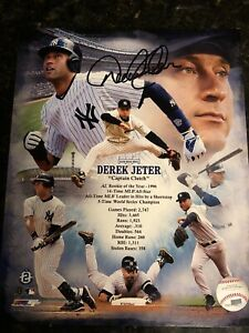 "Derek Jeter New York Yankees Captain Signed 8x10 ""Captain Clutch"" Composite Phot"