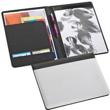 Schreibmappe incl. Schreibblock / Dokumentenmappe / DIN A4 / Farbe: weiß-schwarz