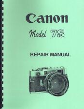 Canon 7S Rangefinder Camera Repair Manual