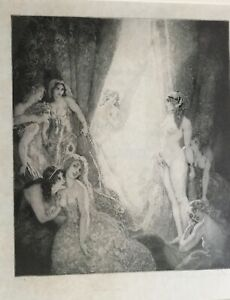 """Norman Lindsay facsimile etching """"Eternities Avatar"""". No. 416/550"""