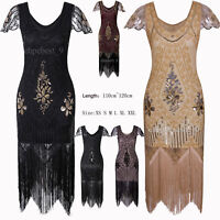 Vintage 1920s Flapper Dress Party Prom Evening Gowns Plus Size 50s Style Dresses