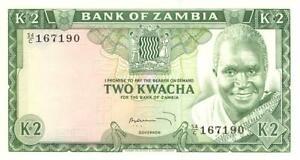 Zambia 2 Kwacha Currency Banknote 1969 CU