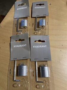 Lot of 4 IKEA KVADRANT Ceiling Mount Brackets New Sealed