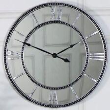 Horloges murales vintage/rétro gris ronds pour la maison