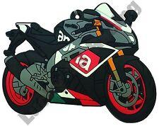 Aprilia RSV4 rubber key ring motor bike cycle gift keyring chain mille RSV4R