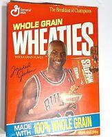 MICHAEL JORDAN Chicago Bulls 1990's General Mills WHEATIES Cereal Box Series 46