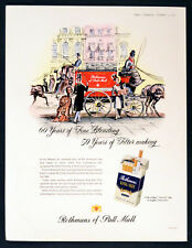 ROTHMANS OF PALL MALL 1957 Victorian Horse & Carriage BRITISH CIGARETTE ADVERT