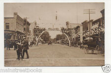 Prairie du Sac WI 1910 Photo Postcard WELCOME TO HOME COMING Waiting For Parade