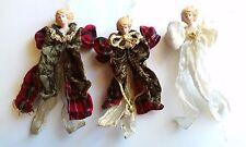 Vintage Hand Crafted Silvestri Old World Angel Ornaments (3)