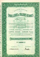EMAILLERIES&TOLERIES REUNIES AUBECQ & CIE  2