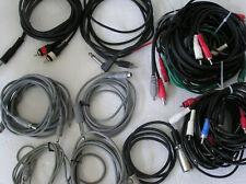 "Rca Cables Large Lot various types Mini Phono 1/4 "" Lot #5"