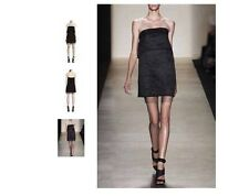BCBG Max Azria Runway Limited Edition 'SIGRID' Strapless Dress Linen Black 4