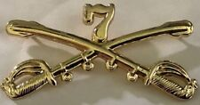 7th US Army Cavalry - large hat / lapel pin badge.