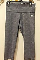 Adidas Climalite Women's Cropped Legging Dark Gray Capri