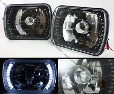 TOYOTA PICKUP TRUCK GLASS LENS JDM BLACK SEALED BEAM SQUARE WHTIE LED HEADLIGHT