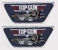 US Navy USN F-14 TOMCAT TOP GUN FIGHTER GENERIC iron-on INSIGNIA X 2