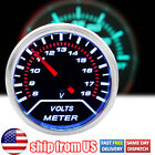 2 52mm Car Universal Digital Volt Voltmeter Gauge Led Meter Red Pointer 8-18v