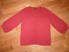 "Women's medium ""TALBOTS"" Button Up Red Cardigan Sweater.NICE!!!"