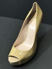 VINCE CAMUTO Tan Patent Leather Platform Open Toe Pumps Womens Shoes Size 11 M
