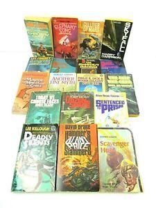 Vintage Science Fiction Lot of 18 Paperbacks Harrison Arnold Campbell Correy B27