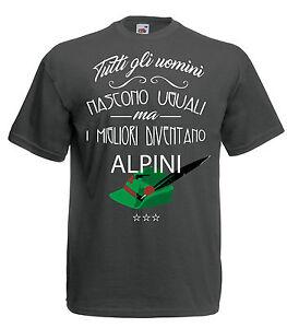 Camiseta J1218 Solamente los Mejores Become Alpino Ejército Idea Regalo
