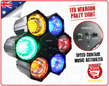 LED Hexagon Party Light 21 Globe LED Lights Speed Control & Sound Activated LE6C