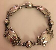 Vintage Georg Jensen Mid Century Sterling Silver #11 Moonlight Blossom Bracelet