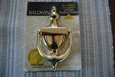 New Baldwin Door Knocker Solid Polished Brass Lifetime Warranty