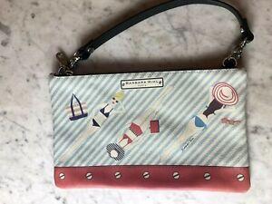 Barbara Rihl Paris Leather Beach handbag removable strap