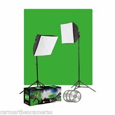 Westcott uLite Photo & Video Chromakey Green Screen Lighting Kit Inc 500W Lights