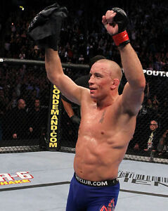 UFC MMA GSP GEORGE ST PIERRE Mixed Martial Arts 8x10 Photo Print Photography