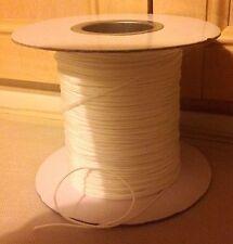20 metros Estor plegable liso poliéster Cable 1.3mm Cortina fabricación blanco