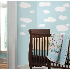 WHITE CLOUDS WALL DECALS 19 New Baby Nursery Sky Stickers Kids Room Decorations