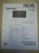 Sony Service Manual~PMC-202 Component System~Original~Repair