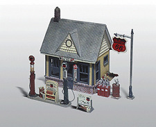 HO Woodland Scenics 223 Unpainted Metal kit * Gas Station