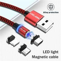 3 in 1 Magnetisch Typ C Micro USB Schnell Ladekabel Für iPhone Samsung Huawei