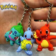 Pokemon Figure Bulbasaur Charmander Squirtle Set Keyrings Keychain Set Gift 4cm