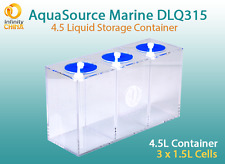 4.5L Dosing Pump Liquid (Additives) Acrylic Storage Container - 3 Chambers x1.5L
