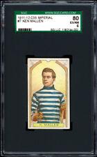 1911-12 C55 Imperial Tobacco #7 Ken Mallen Rookie Card SGC 80 + Well centered.