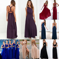 Women Long Evening Party Ball Prom Gown Wedding Bridesmaid Cocktail Formal Dress
