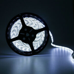 5M 300 Leds 3528 SMD Bright Flexible Led Strip Lights Lamp Cool White 15Ft