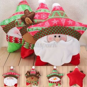 New Lovely Christmas Santa Elk Snowman Decor Pillow Home Xmas Decoration Gift