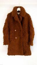 H&M Caramel Faux Fur Coat UK8 EU34 US4 ONLY ONE