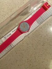Swatch Watch Pink Fuzz GP142 Standard Gents 2014 New Old Stock