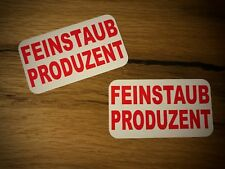 2x FEINSTAUB PRODUZENT Aufkleber Sticker Umweltzone Abgasskandal Diesel Ruß #136