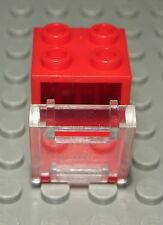 Lego Schrank 2x2x2 Rot mit Transparenter Tür                             (522 #)
