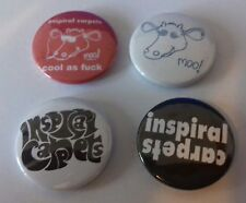 4 Inspiral Carpets button badges 25mm Cool As Moo Thisis how it Fells Madchester