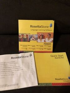 Rosetta Stone Homeschool French Level 1-5 Set   NO ACTIVATION CARD
